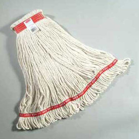"""Web Foot® Large Cotton/Synthetic, Wet Mop Heads W/ 1"""" Headband, White 6/Pack - RCPA113WHI"""