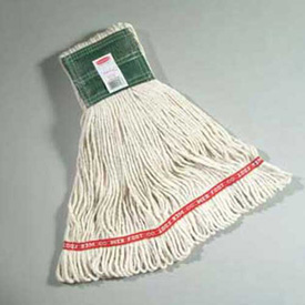 """Web Foot® Medium Compact Cotton/Synthetic Wet Mop Head, 5"""" Headband, White 6/Pack - RCPA152WHI"""