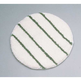 "Rubbermaid® 21"" Low Profile Scrub Strip Carpet Bonnet, White/Green - RCPP271"