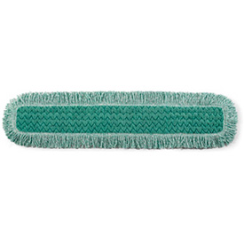 "Rubbermaid® HYGEN 36"" Microfiber Dust Mop Head W/ Fringe, Green 6/Pack - RCPQ438"