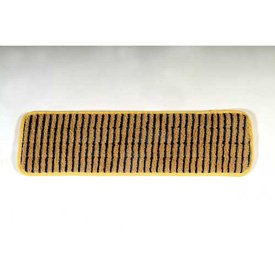 "Rubbermaid® 18"" Microfiber Scrubber Pad W/ Polypropylene Stripes, Yellow 6/Pack - RCPQ810YEL"
