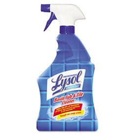 Lysol Disinfectant Basin/Tub/Tile Cleaner 32oz. Spray 12/Case - RAC04685CT