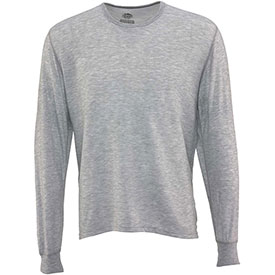 Thermal Underwear Top, Gray 2XL by