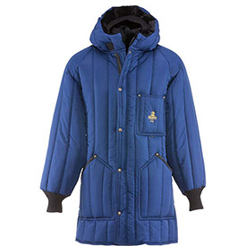RefrigiWear Vertical Puffer Parka, Blue, -10° Comfort Rating, XL, 6360RBLUXLG by