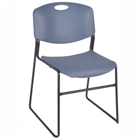 Regency Plastic Stack Chair - 400 lb. Capacity - Blue