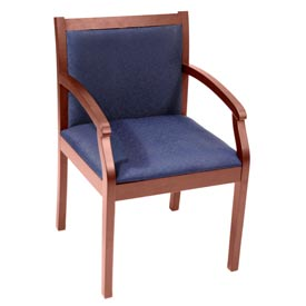 Regent Wood and Fabric Side Chair - Cherry/Blue