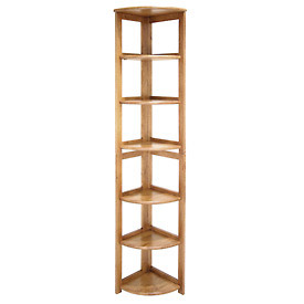 67x12 Corner Flip Flop Bookcase - Medium Oak