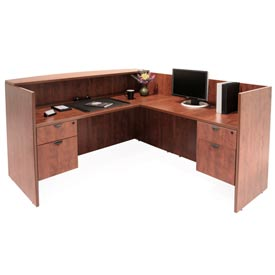 Double Pedestal Reception Station - Cherry