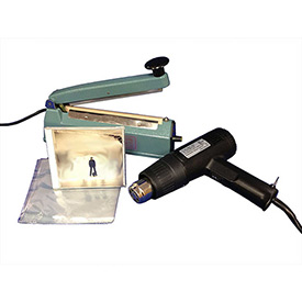 "Sealer Sales SWK-8-04CD Shrink Wrapping Kit w/ 500 CD Sized Shrink Bags, 8"" Sealer & Heat Gun by"