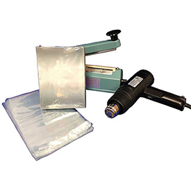 "Sealer Sales SWK-8-04V Shrink Wrapping Kit w/ 500 VHS Sized Shrink Bags, 8"" Sealer & Heat Gun by"