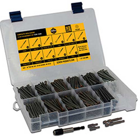 Square Drive Decking Screws, Exterior Coated, Large Drawer Assortment, 8 Items, 8 Lbs.