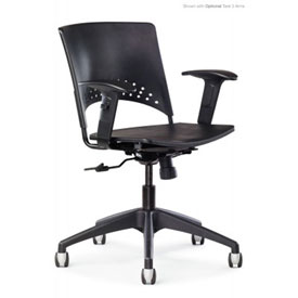 All Seating 38050 Multitek Task Chair with Polypropylene Seat and Back