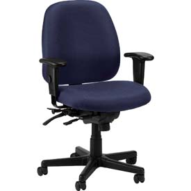 4X4 Task Chair, 498SL-NVY, Navy Fabric, Adjustable Arms
