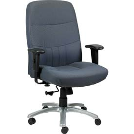 EXCELSIOR Executive High Back Chair, BM9000-BLK, Black Fabric, Adjustable Arms