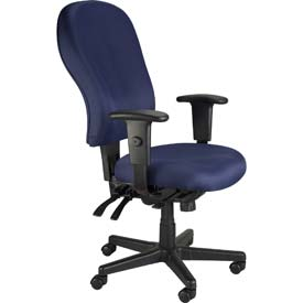 4X4 Manager Chair, FM4080-NVY, Navy Fabric, Adjustable Arms