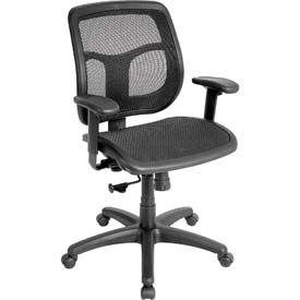 APOLLO Manager Chair, MMT9300, Black Mesh, Adjustable Arms