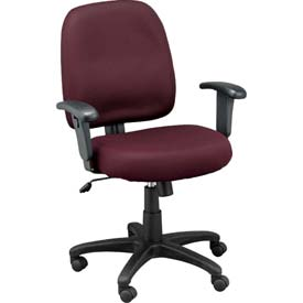 NEWPORT Task Chair, MT5241-BGM, Burgundy Mesh, Adjustable Arms