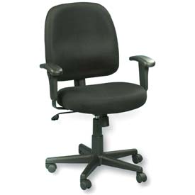 NEWPORT Task Chair, MT5241-BKM, Black Mesh, Adjustable Arms