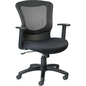 MARLIN Task Chair, MT7500, Black Fabric / Mesh, Adjustable Arms