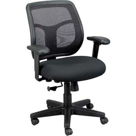 APOLLO Mesh Task Chair with Arms - Fabric - Black