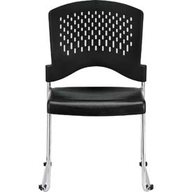 AIRE Side Chair, S4000-BLK, Black Polypropylene, Armless Arms, 4/PK - Pkg Qty 4
