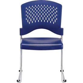 AIRE Side Chair, S4000-NVY, Navy Polypropylene, Armless Arms, 4/PK - Pkg Qty 4