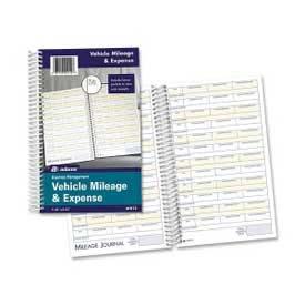 "Adams® Vehicle Mileage & Expense Journal, 5-1/4"" x 8-1/2"", White, 64 Sheets/Pad"