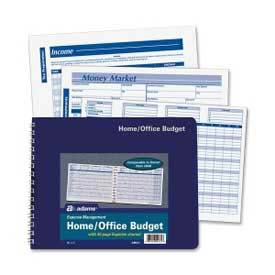 "Adams® Home/Office Budget Book, 7"" x 10"", White, 30 Sheets/Pad"