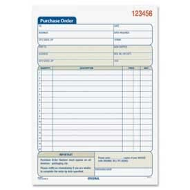 "Adams Purchase Order Book, 2-Part, Carbonless, 5-9/16"" x 8-7/16"", 50 Sets/Book by"
