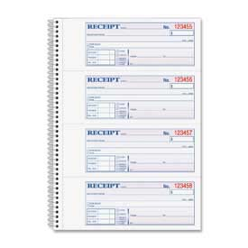 "Adams Money/Rent Receipt Book, 2-Part, 7-5/8"" x 11"", White/Canary, 200 Sets/Pad by"