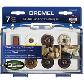 Dremel EZ684-01 EZ Lock Sanding/Polishing Kit for Dremel Rotary Tools Package Count 4 by