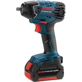 BOSCH IWH181-01, 18V 3/8 Inch Impact Wrench W/(2) FatPack Batteries by