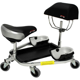 """Click here to buy RACATAC Kneeling/Sitting Creeper w/3"""" Casters & Chest Support 01RAC3CS."""