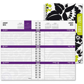 "Rediform 13-Month Weekly Academic Planner 8"" x 5-5/16"" x 1/2"" Assorted by"