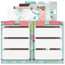 "Rediform Blossom Weekly Academic Planner 10-5/16"" x 8-1/8"" x 5/8"" Assorted by"