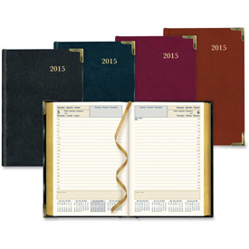 "Rediform Bonded Leather Daily Executive Planner 7-3/8"" x 5-1/8"" x 1-1/8"" Assorted by"