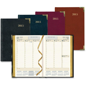 "Rediform Bonded Leather 1PPW Weekly Executive Planner 8-3/8"" x 5-13/16"" x 5/8"" Assorted by"
