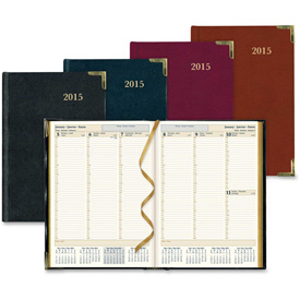 "Rediform Aristo Bonded-leather Weekly Executive Planner 11"" x 8"" x 5/8"" Assorted by"