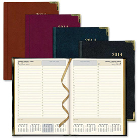 "Rediform Aristo bonded-leather Executive Daily Planner 11"" x 8"" x 1-1/8"" Assorted by"