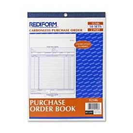 "Rediform Purchase Order Book, 2-Part, Carbonless, 8-1/2"" x 11"", 50 Sets/Book by"