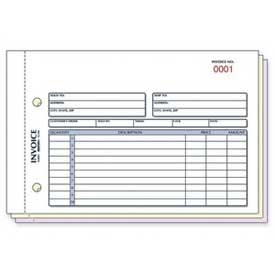 """Rediform Invoice Book, 3-Part, Carbonless, 5-1/2"""" x 7-7/8"""", 50 Sets/Book by"""