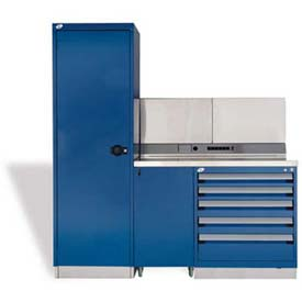 "Rousseau Metal GT Workcenter GT-C1045S_560, One Tool Box, 72""W, Glossy Sapphire Blue"