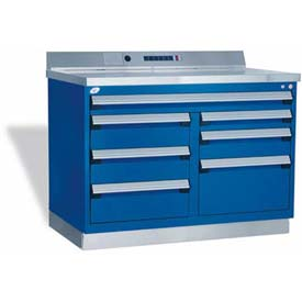 "Rousseau Metal Workbench W/Multi-Drawer Tool Box GT-XHG0002S_806, 1 Tool Box, 48""W, Glossy RD"