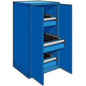 "3 Drawer Tool Storage Cabinet for Taper 40 - 30""Wx27""Dx60""H Avalanche Blue"