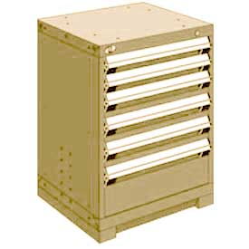 "Rousseau Metal Heavy Duty Modular Drawer Cabinet 6 Drawer Bench High 24""W - Beige"