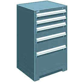 "Rousseau Metal Heavy Duty Modular Drawer Cabinet 5 Drawer Counter High 24""W - Everest Blue"