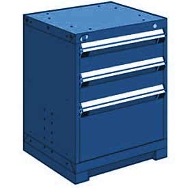 "Rousseau Metal Heavy Duty Modular Drawer Cabinet 3 Drawer Bench High 24""W - Avalanche Blue"