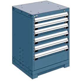 "Rousseau Metal Heavy Duty Modular Drawer Cabinet 6 Drawer Bench High 24""W - Everest Blue"
