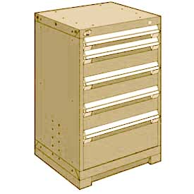"Rousseau Metal Heavy Duty Modular Drawer Cabinet 5 Drawer Counter High 24""W - Beige"