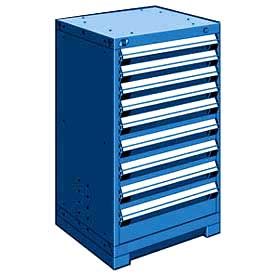 "Rousseau Metal Heavy Duty Modular Drawer Cabinet 9 Drawer Counter High 24""W - Avalanche Blue"